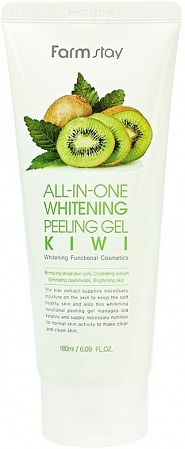 FarmStay~Пилинг-скатка с экстрактом киви~All-In-One Whitening Peeling Gel Kiwi
