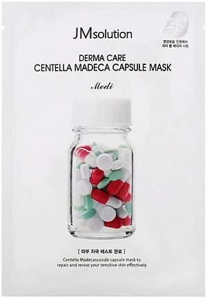 JMSolution~Успокаивающая маска с центеллой~Derma Care Centella Repair Capsule Mask